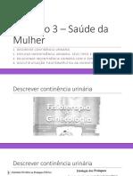 incontinência urinária, seus tipos e causas