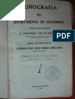 1926.- Villlacorta C., J. a. - Monografia de Guatemala (Indice)