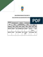 Jadual Penyedia Soalan Rbt 2019