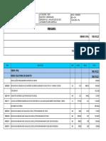 Planilha Orçamentária SES Loteamento Park Imperial II