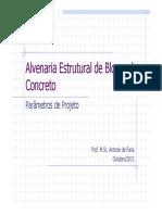 AE - Parâmetros de Projeto