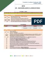 Gyn Bacharelados Licenciaturas 2019