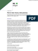 Pierre Jean Jouve, Dois Poemas