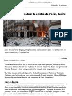 Forte Explosion Dans Le Centre de Paris