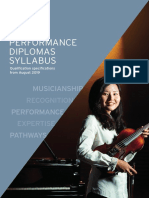 Music Performance Diplomas Syllabus From August 2019