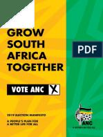 ANC Manifesto 2019