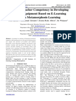 Improving Teacher Competency in Developing Learning Equipment Based on E-Learning through Metamorphosis Learning