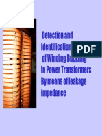 Detection and Identification of Winding Buckling in Power Transformers by Means of Leakage Impedance
