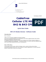 CableFree 4G-LTE Cellular CPE - MiFi B42 B43 Quick Start Guide and Manual