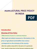 Agriculture price policy