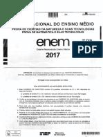 Caderno Amarelo Prova - Enem 2017