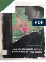 Notas Sobre Urbanização Dispersa e Novas Formas de Tecido Urbano_Nestor Goulart Reis