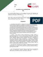 Accordo Fondazione Pellicani e CeSPI