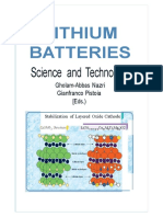 Lithium Batteries Science and Technology