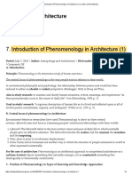 7 Introduction of Phenomenology in Architecture (1)