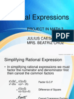 Rational ExpressionsSimplifying and Operations