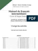 978-88-203-7520-1 Manuel de Francais Intermediaire Soluzioni