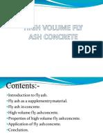 High Volume Fly Ash Concrete
