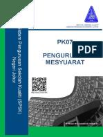 PK07 PENGURUSAN MESYUARAT.doc