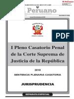 Primer pleno casatorio penal de la corte suprema