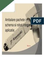Ambalare pachete cu robot integrat