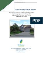 Sample Inspection Report REI 7-5