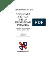 Economiá y Ética de La Propiedad Privada