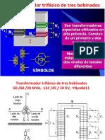 Transformador trifásico de tres bobinados, circuitos eléctricos