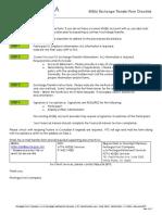 403b Exchange Transfer Form Checklist