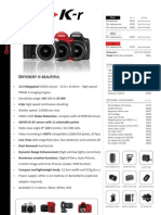 Pentax K-r Specsheet