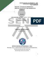 8.4 Diseño del plan de ruta y red geográfica de transporte