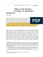 Qu Religious Policy in the People's Republic of China