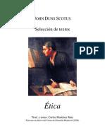 Juan Duns Escoto - Ética