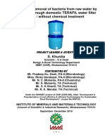 Report on Bacteria Removal Efficiency of Terafil Water Filter-s.khuntia-2010