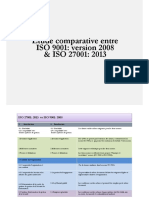 Etude Comparative ISO 27001 vs ISO 9001