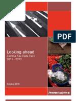 Zambia Tax Data 2011 - 2012