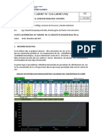 INFORME LABORATORIO METALURGICO N° 018 ALTERNATIVA DE MEJORA CIRCUITO BULK