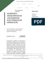 Aciertos y Desaciertos de Los Sondeos Electorales de Andalucía
