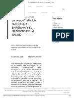La Medicina_ La Sociedad Enferma y El Negocio de La Salud