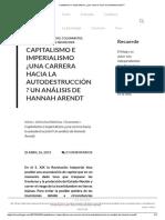 Capitalismo e Imperialismo ¿Una Carrera Hacia La Autodestrucción