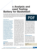 Analysis and Testing for Basketball