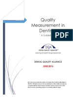 Quality Measurement in Dentistry a Guidebook