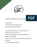 Discursos Literarios en Yucatán contemporáneo