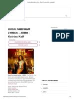 Husn Parcham Lyrics - Zero _ Katrina Kaif - Lyricsmint