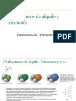 Teoria 6. Halogenuro de Alquilo y Alcoholes. Reacciones de Sustitucion y Eliminacion