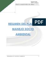 Resumen de Ejecución Del Plan de Manejo Socio Ambiental Diciembre