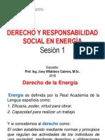 Derecho y Responsabilidad Social en La Energía