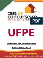 Apostila Ufpe 2016 Assistente Em Administracao