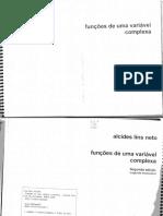Funcoes de Uma Variavel Complexa - Alcides Lins Neto