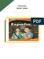 Dosificacion de Español 2 Trimestre.
